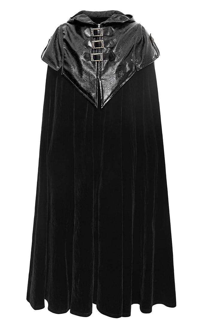 grande vente meilleur endroit pour ordre Cape aristocrate manteau vampire noir à capuche Punk Rave