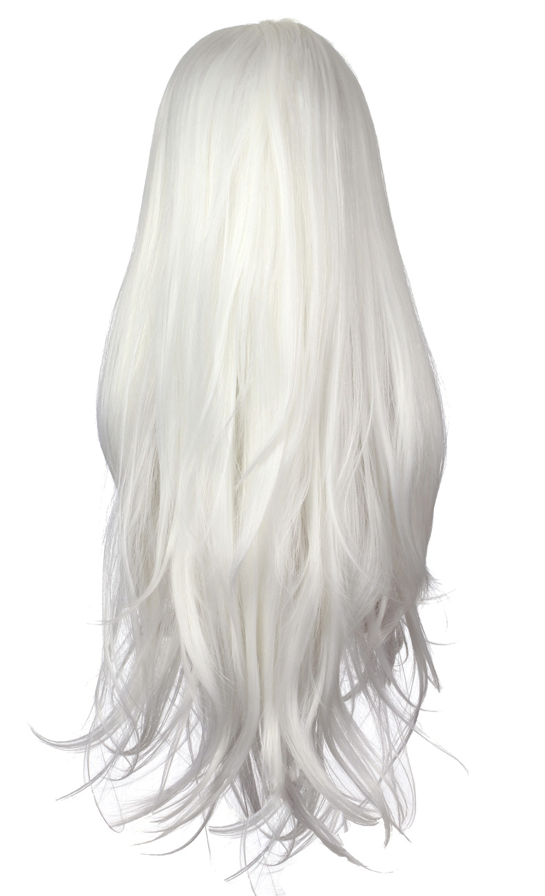 Perruque Front Lace blanche blonde platine