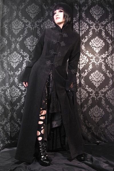 Manteau Long Noir Renaissance Victorien A Attaches M0304 New Witch